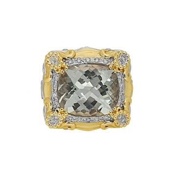 Alwand Vahan 14k Yellow Gold & Sterling Silver Clear Topaz Ring