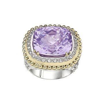 Alwand Vahan 14k Yellow Gold & Sterling Silver Light Amethyst Ring