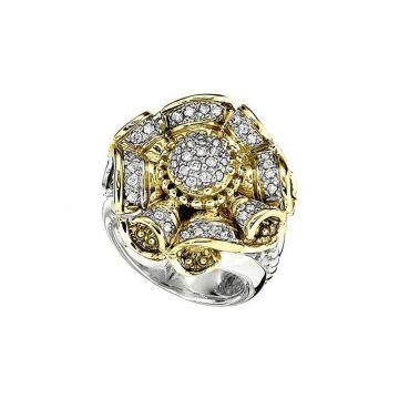 Alwand Vahan 14k Yellow Gold & Sterling Silver Diamond Ring