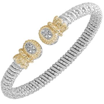 Alwand Vahan 6mm 14k Gold & Sterling Silver Diamond Bracelet