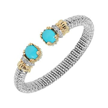 Alwand Vahan 14k Yellow Gold & Sterling Silver Turquoise Bracelet