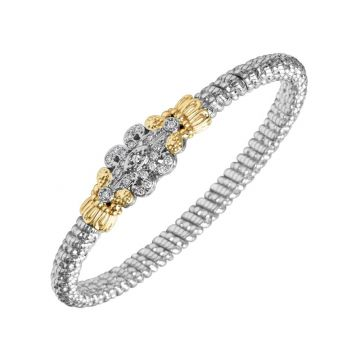 Alwand Vahan 14k Yellow Gold & Sterling Silver Scrollwork Diamond Bracelet