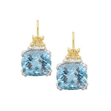 Alwand Vahan 14k Yellow Gold & Sterling Silver Blue Topaz Earrings