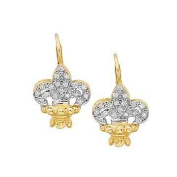 Alwand Vahan 14k Yellow Gold & Sterling Silver Diamond Earrings