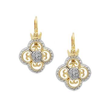 Alwand Vahan 14k Yellow Gold & Sterling Silver Diamonds Earrings