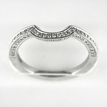 Venetti Designs 14k White Gold 0.30ct Diamond Wedding Band