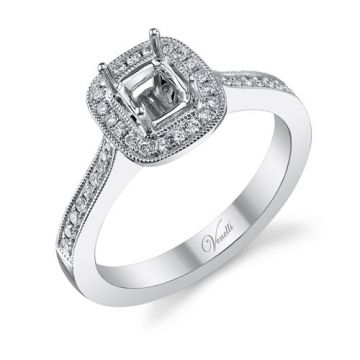 Venetti Designs 14k White Gold 0.32ct Diamond Engagement Ring