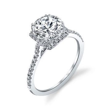 Venetti Designs 14k White Gold 0.36ct Diamond Engagement Ring