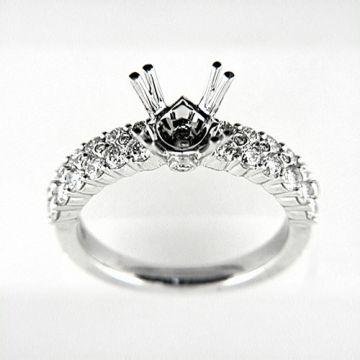 Venetti Designs 14k White Gold 0.99ct Diamond Engagement Ring