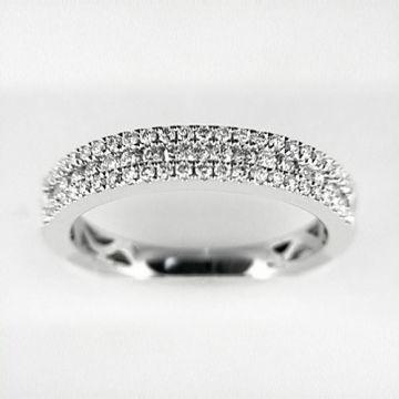 Venetti Designs 14k White Gold 0.55ct Diamond Wedding Band