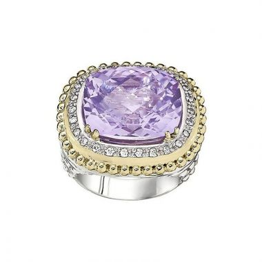 Alwand Vahan 14k Yellow Gold & Sterling Silver Light Amethyst Ring
