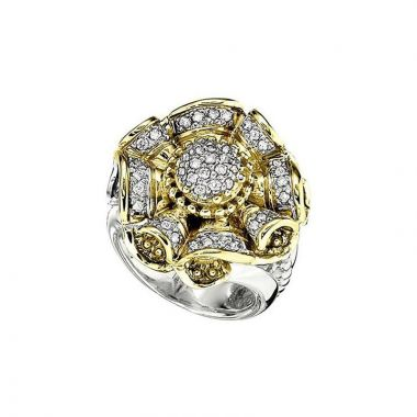 Alwand Vahan 14k Yellow Gold & Sterling Silver Diamond Ring