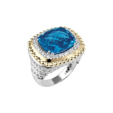 Alwand Vahan 14k Yellow Gold & Sterling Silver London Blue Topaz Ring