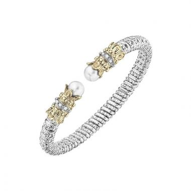 Alwand Vahan 14k Yellow Gold & Sterling Silver White Pearl Bracelet