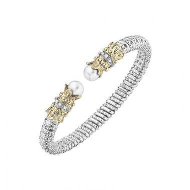 Alwand Vahan 14k Yellow Gold & Sterling Silver White Pearl Bracelet