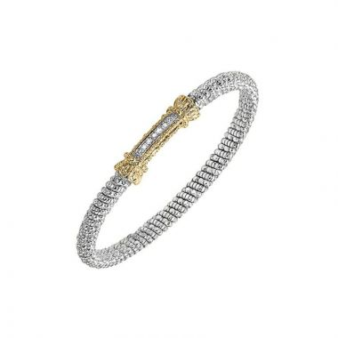 Alwand Vahan 14k Yellow Gold & Sterling Silver Bar Bracelet