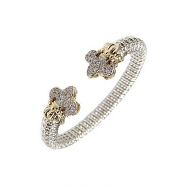Alwand Vahan 14k Yellow Gold & Sterling Silver Fleur de Lis Bracelet