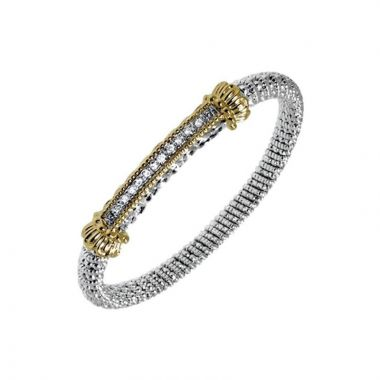Alwand Vahan 14k Yellow Gold & Sterling Silver Closed Diamond Bracelet