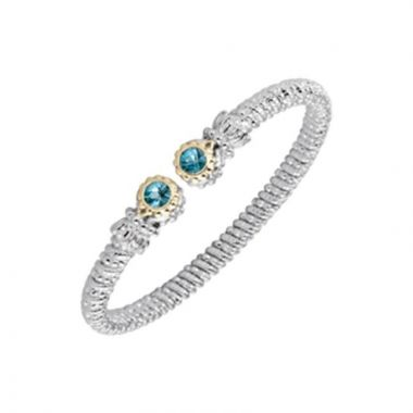 Alwand Vahan 14k Yellow Gold & Sterling Silver Blue Topaz Bracelet