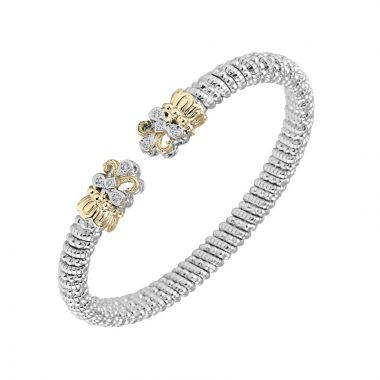 Alwand Vahan 14k Yellow Gold & Sterling Silver Sterling Open Fleur de Lis Bracelet