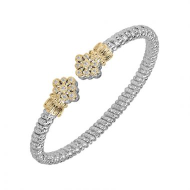 Alwand Vahan 14k Yellow Gold & Sterling Silver Twisted Diamond Bracelet
