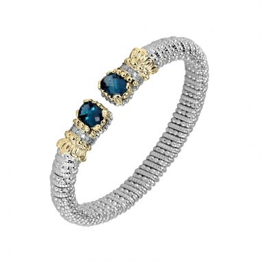 Alwand Vahan 14k Yellow Gold & Sterling Silver London Blue Topaz Bracelet