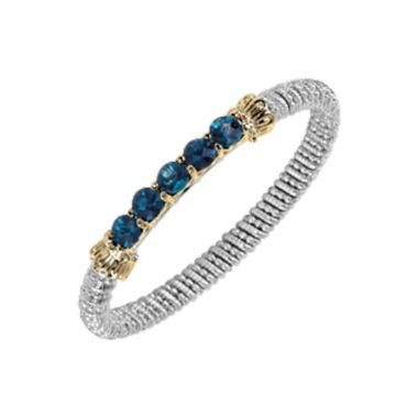 Alwand Vahan 14k Yellow Gold & Sterling Silver Sterling London Blue Topaz Bracelet