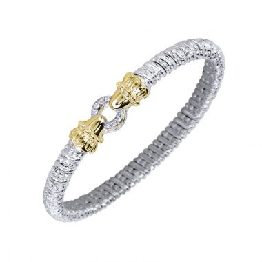Alwand Vahan 14k Yellow Gold & Sterling Silver Pave Circle Bracelet