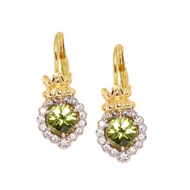 Alwand Vahan 14k Yellow Gold & Sterling Silver Peridot Earrings