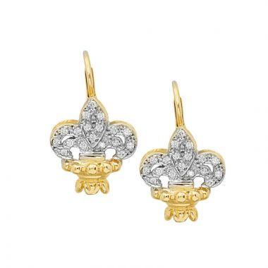 Alwand Vahan 14k Yellow Gold & Sterling Silver Diamond Earrings