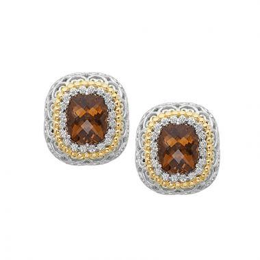Alwand Vahan 14k Yellow Gold & Sterling Silver Colorado Quartz Earrings