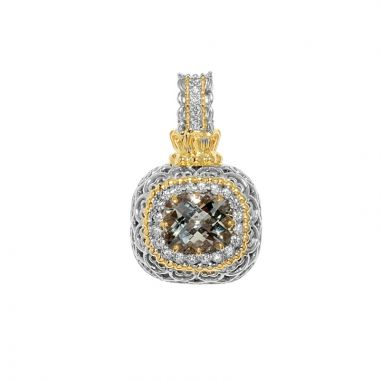 Alwand Vahan 14k Yellow Gold & Sterling Silver Blue Topaz Pendant