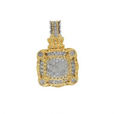 Alwand Vahan 14k Yellow Gold & Sterling Silver Diamond Pendant
