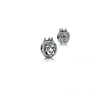 Sterling Silver King of the Jungle Charm