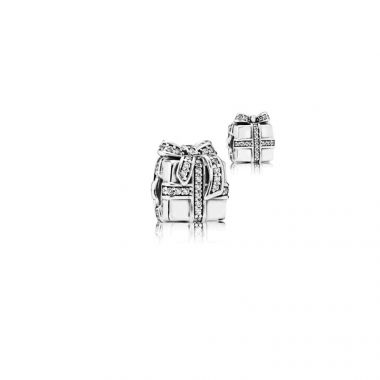 Sterling Silver  Sparkling Surprise, Clear Cubic Zirconia Charm
