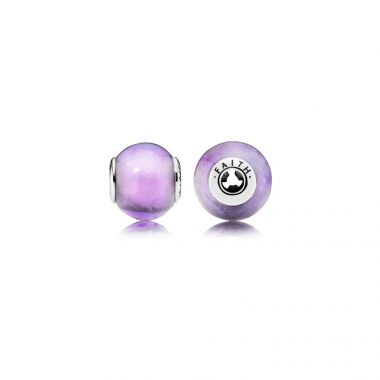 Sterling Silver Essence Collection,  Faith, Synthetic Amethyst Charm