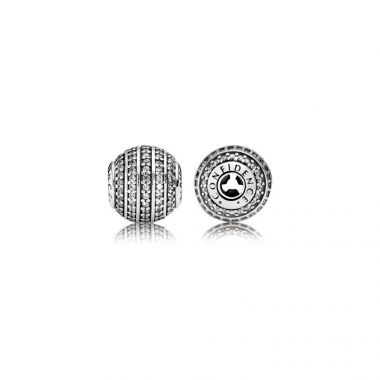 Sterling Silver Essence Collection,  Confidence, Clear Cubic Zirconia Charm