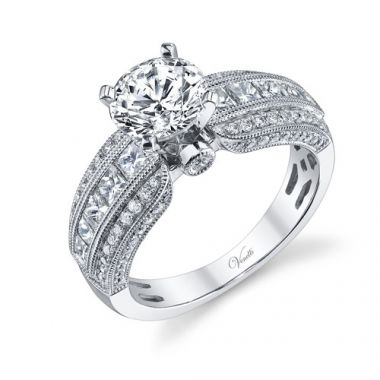 Venetti Designs 14k White Gold 1.30ctw Diamond Engagement Ring
