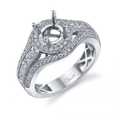 Venetti Designs 14k White Gold 1.04ctw Diamond Engagement Ring
