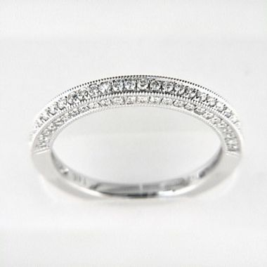 Venetti Designs 14k White Gold 0.44ct Diamond Wedding Band