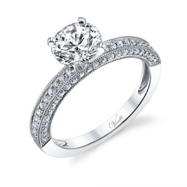 Venetti Designs 14k White Gold 0.44ct Diamond Engagement Ring