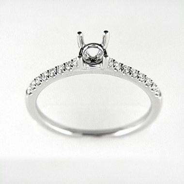 Venetti Designs 14k White Gold 0.20ct Diamond Engagement Ring