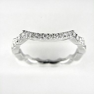 Venetti Designs 14k White Gold 0.36ct Diamond Wedding Band