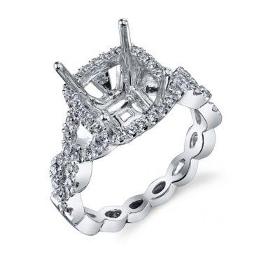 Venetti Designs 14k White Gold 0.74ct Diamond Engagement Ring