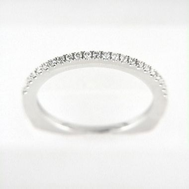 Venetti Designs 14k White Gold 0.19ct Diamond Wedding Band