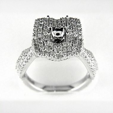 Venetti Designs 14k White Gold 1.42ct Diamond Engagement Ring