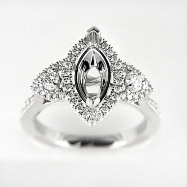Venetti Designs 14k White Gold 0.62ct Diamond Engagement Ring