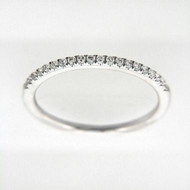 Venetti Designs 14k White Gold 0.17ct Diamond Wedding Band