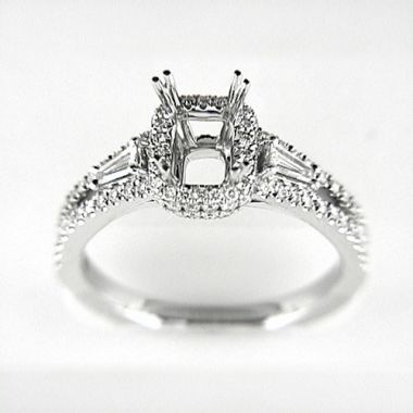 Venetti Designs 14k White Gold 0.66ctw Diamond Engagement Ring
