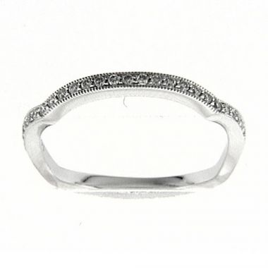 Venetti Designs 14k White Gold 0.18ct Diamond Wedding Band
